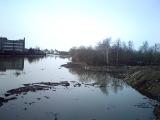 разлив Упы в Туле. Криволученский мост. 11.04.13. правый берег-1